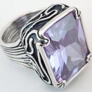 Lavender Fields Sterling Silver Ring